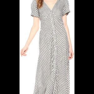Striped Linen Summer Max Studio Dress NEW